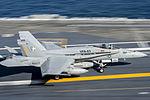 FA-18C Hornet of VFA-83 lands on USS Harry S. Truman (CVN-75) in November 2015.JPG