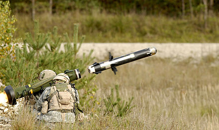U.S. Army soldiers fire a FGM-148 Javelin, 16 August 2006. FGM-148 Javelin - ID 061024-A-0497K-004.JPEG