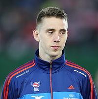 FIFA WC-qualification 2014 - Austria vs Faroe Islands 2013-03-22 - Pól Jóhannus Justinussen 01.JPG