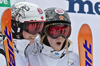 FIS Moguls World Cup 2015 Finals - Megève - 20150315 - Maxime et Justine Dufour-Lapointe.jpg