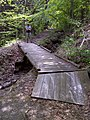 FLT M10 2.7 mi - Bridge for snowmobiles, 30' long, 4' wide, 2x6 deck boards, telephone pole stringers, 3.5' to drainage - panoramio.jpg