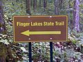 FLT M30 18.5 mi - Metal FLT sign, probably made and erected by landowner - panoramio.jpg