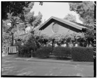 FRONT, LOOKING WEST-NORTHWEST - Saratoga Foothill Club, 20399 Park Place, Saratoga, Santa Clara County, CA HABS CAL,43-SARA,2-2.tif