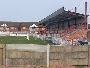 Highbury Stadium (Fleetwood) - A view of the Percy Ronson Stand