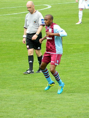 Fabian Delph - Delph playing for Aston Villa in 2013