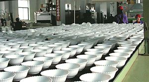 Chagang Province - Image: Fabrica de cristal duro Huichon 2