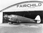 Fairchild JK-1 outside Fairchild Airplanes hangar.jpg