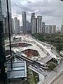 Fairmont Kuala Lumpur Towers - Construction site in January 2019.jpg