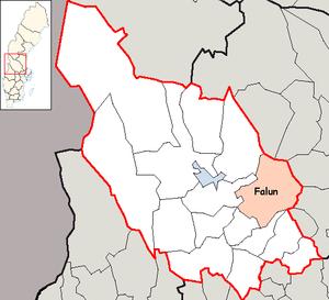 Falun Municipality - Image: Falun Municipality in Dalarna County