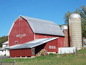 Image of a family farm near Stockbridge, Wisco...