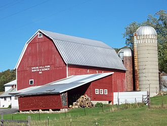 Family farm - Barn of a  Wisconsin family farm, inscribed with the foundational year (1911).