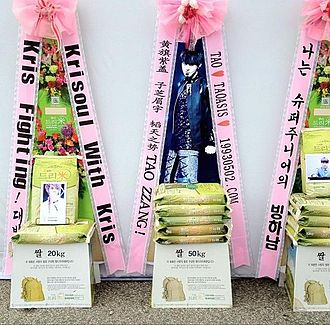 K-pop - Fan rice for the Korean boyband Exo
