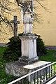 Fehérgyarmat, templomkerti Nepomuki Szent János-szobor 2021 01.jpg