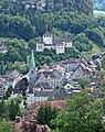 Feldkirch (Vorarlberg) - Blick vom Ardetzenberg zum Dom und zur Schattenburg (01-2).JPG
