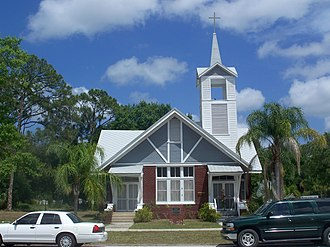 National Register of Historic Places listings in Indian River County, Florida - Image: Fellsmere FL First Meth Episc 01