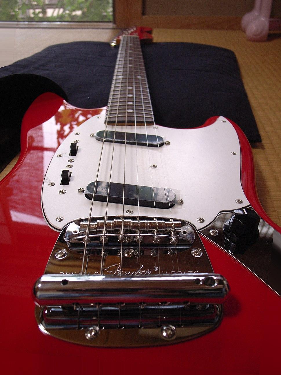 Fender Dynamic Vibrato of Fender Japan Mustang MG69