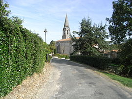 The village and the spire of church