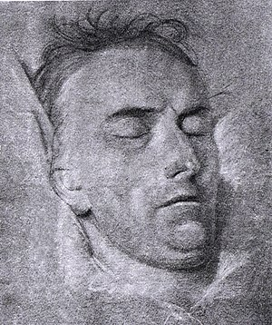 Friedrich Schiller's skull - Schiller on his deathbed – a drawing by the portraitist Ferdinand Jagemann from 1805