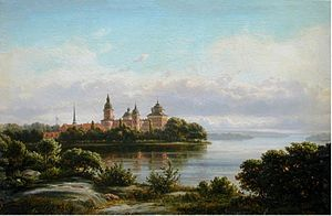 1869 in Sweden - Ferdinand Richardt 1869,58x87 Gripsholm