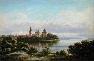1869 in Sweden - Ferdinand Richardt 1869,58x87 Gripsholm