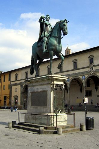 Pietro Tacca - Giambologna's equestrian bronze of Ferdinando I de' Medici, Grand Duke of Tuscany for the Piazza della SS. Annunziata; completed by his assistant, Pietro Tacca.