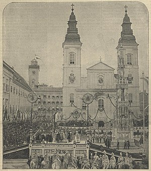 Austro-Hungarian Compromise of 1867 - Photo of the coronation oath in Buda