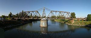 Ferndale, Washington - Rail bridge over the Nooksack River