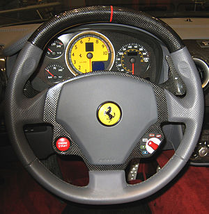 Automobile safety - Ferrari F430 steering wheel with airbag