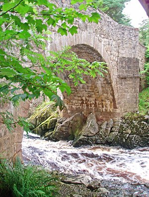 Water of Feugh - Water of Feugh cascading below the Bridge of Feugh near Banchory.  Work author: C. Michael Hogan