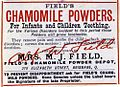 Field's Chamomile Powders label (8734611320).jpg