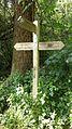Fingerpost, edge Monken Hadley Common near Castlewood Road.jpg