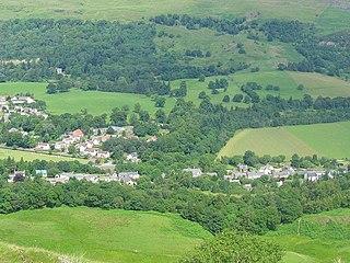 Fintry village in central Scotland