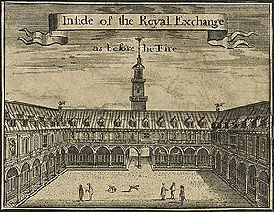 Hans Hendrik van Paesschen - The first Royal Exchange in London, 17th-century depiction