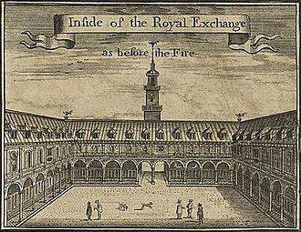 Hans Hendrik van Paesschen - The first Royal Exchange in London, 17th-century depiction