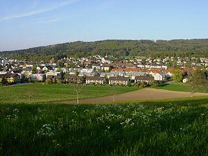 Fislisbach - Fislisbach from Boll hill