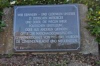 Flacht, Friedhof, Gedenkstein jüdische Opfer.JPG