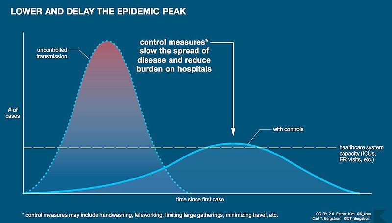 File:Flatten the curve - coronavirus disease 2019 epidemic infographic.jpg