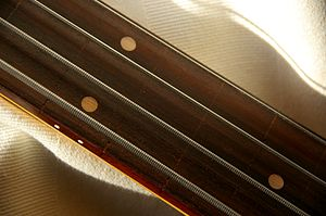 String (music) - Flatwound strings on a fretless bass guitar