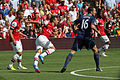 Flickr - Ronnie Macdonald - Lukas Podolski, Santi Cazorla, John O'Shea ^ Gervinho.jpg