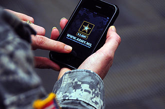 Mobile app - The official US Army iPhone app presents the service's technology news, updates and media in a single place