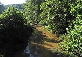 Flint Run (West Virginia) - Flint Run near its confluence with McElroy Creek