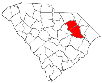 Florence, South Carolina metropolitan area - Location of the Florence Metropolitan Statistical Area in South Carolina