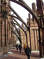 Flying buttresses of the Freiburg Minster.JPG