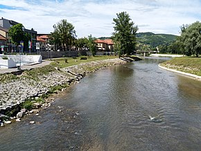 Fojnička river in Visoko, at the confluence with river Bosna.jpg