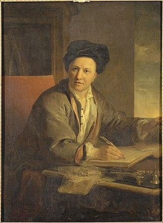 Louis Galloche -  Portrait of Fontenelle by Galloche. Musée national du Château de Versailles.