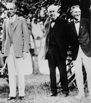 Harvey Samuel Firestone - Henry Ford, Thomas Edison, Harvey Firestone. Ft. Myers, Florida, February 11, 1929.