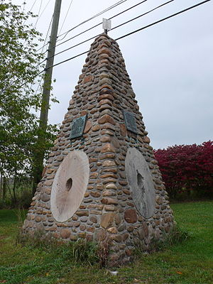Fort Chiswell, Virginia - The Fort Chiswell Historic Marker near the site of the original fort in Wythe County, Virginia.