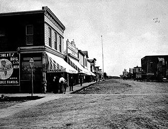 Fosston, Minnesota - Main Street, Fosston, 1902.