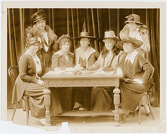 American Theatre Wing - Founding members of Stage Women's War Relief (from left): Mary Kirkpatrick, Dorothy Donnelly, Jessie Bonstelle, Rachel Crothers, Elizabeth Tyree, May Budeley, Eleanor Gates