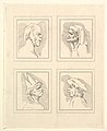 Four Heads (from Characaturas by Leonardo da Vinci, from Drawings by Wincelslaus Hollar, out of the Portland Museum) MET DP824115.jpg